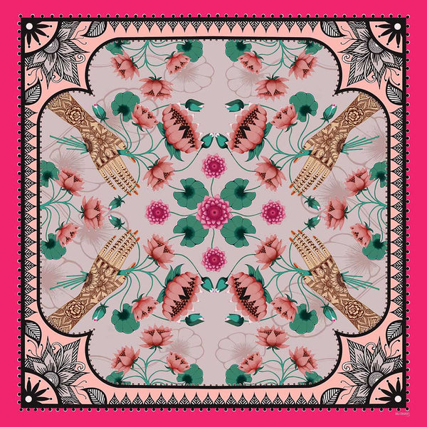 'LOTUS' Limited Edition Silk Scarf - Now on SALE!