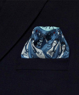 'TATTOO' - Silk Pocket Square - Now on SALE! - Su Owen Design - 3