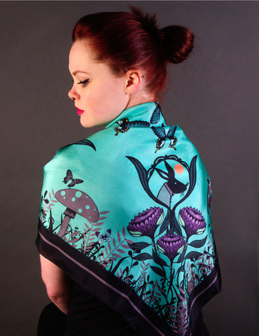 'ALICE' Limited Edition Silk Scarf - Su Owen Design - 1