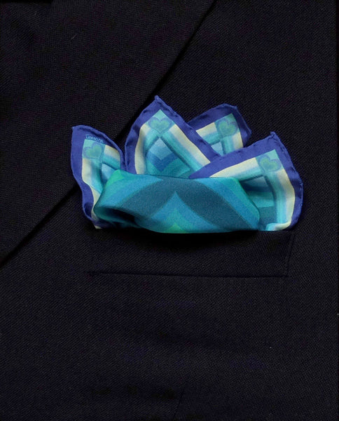 'HEARTS' Silk Pocket Square - Now on SALE! - Su Owen Design - 4