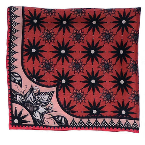 'INDIA' Silk Pocket Square - Now on SALE! - Su Owen Design - 1