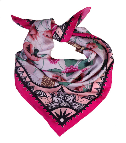 'LOTUS' Limited Edition Silk Scarf - Now on SALE! - Su Owen Design - 4