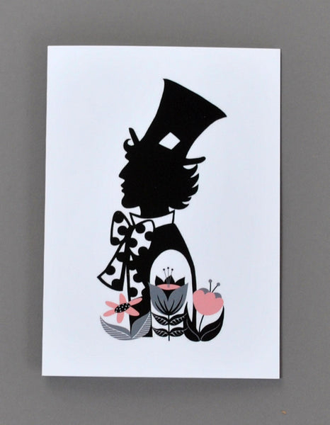 Set of 4 'Alice in Wonderland' Cards - Su Owen Design - 5