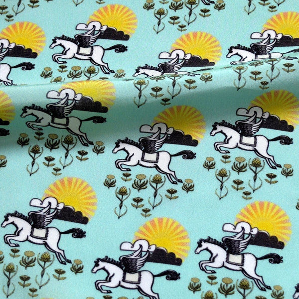 'PEGASUS' Silk Pocket Square - Su Owen Design - 4
