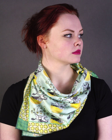 'SUNSHINE PEGASUS' Limited Edition Silk Neckerchief - Su Owen Design - 1