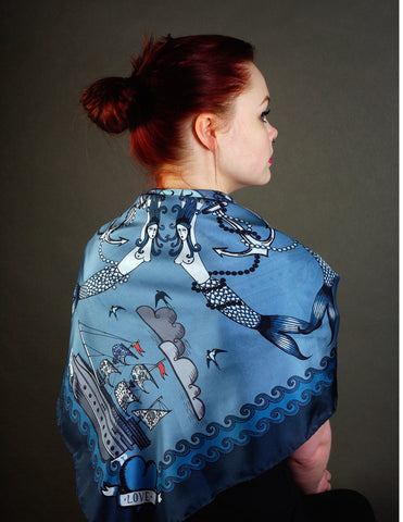 'TATTOO' Limited Edition Silk Scarf - Su Owen Design - 1