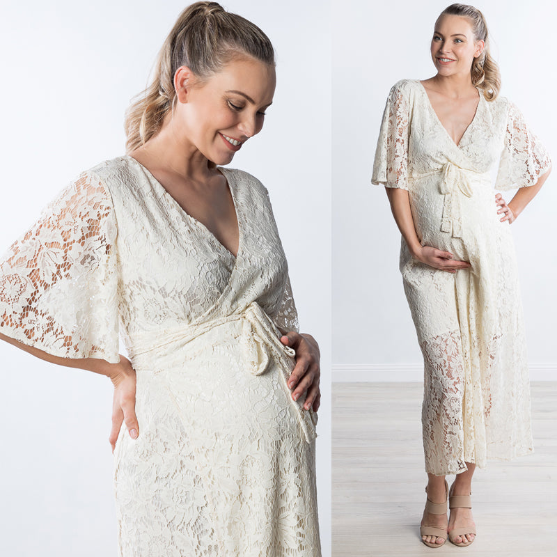 Just Arrived: The One Lace Maternity Dress