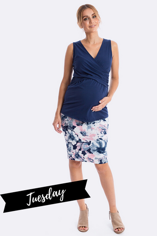Maive&Bo Above The Bump Maternity Skirt