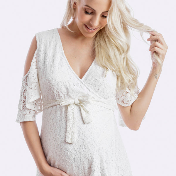 a28dc8a89cb white baby shower dress. The white maternity dress