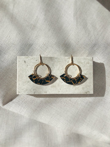 Acrylic + Gold circle earrings - Have kookinuts choose a selection for you - kookinuts
