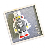 Retro Robot Softie - Gray - kookinuts