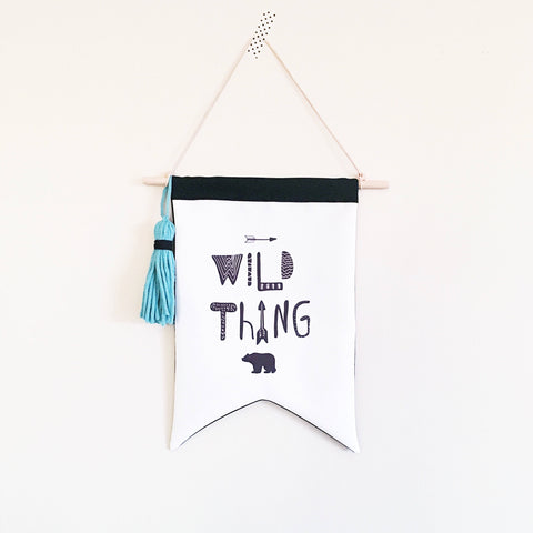 READY TO POST Wild thing wall flag - kookinuts