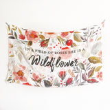 GOTS Certified Organic Muslin Swaddle Wrap - Personalised Options - Watercolour Vintage Wildflowers