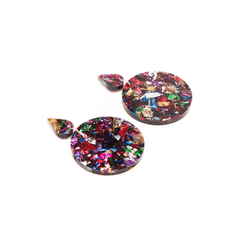Glitter Earrings - Multicolour - kookinuts