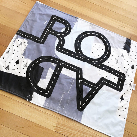 READY TO POST Boys play mat for boys Tummy time mat Cars Road mat Play Boys nursery decor floor rug Babyshower gift new baby boy kookinuts - kookinuts