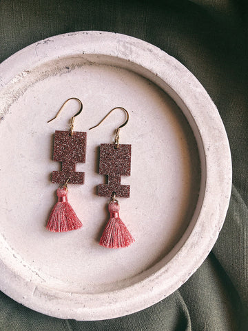 Glitter Earrings - Y - kookinuts