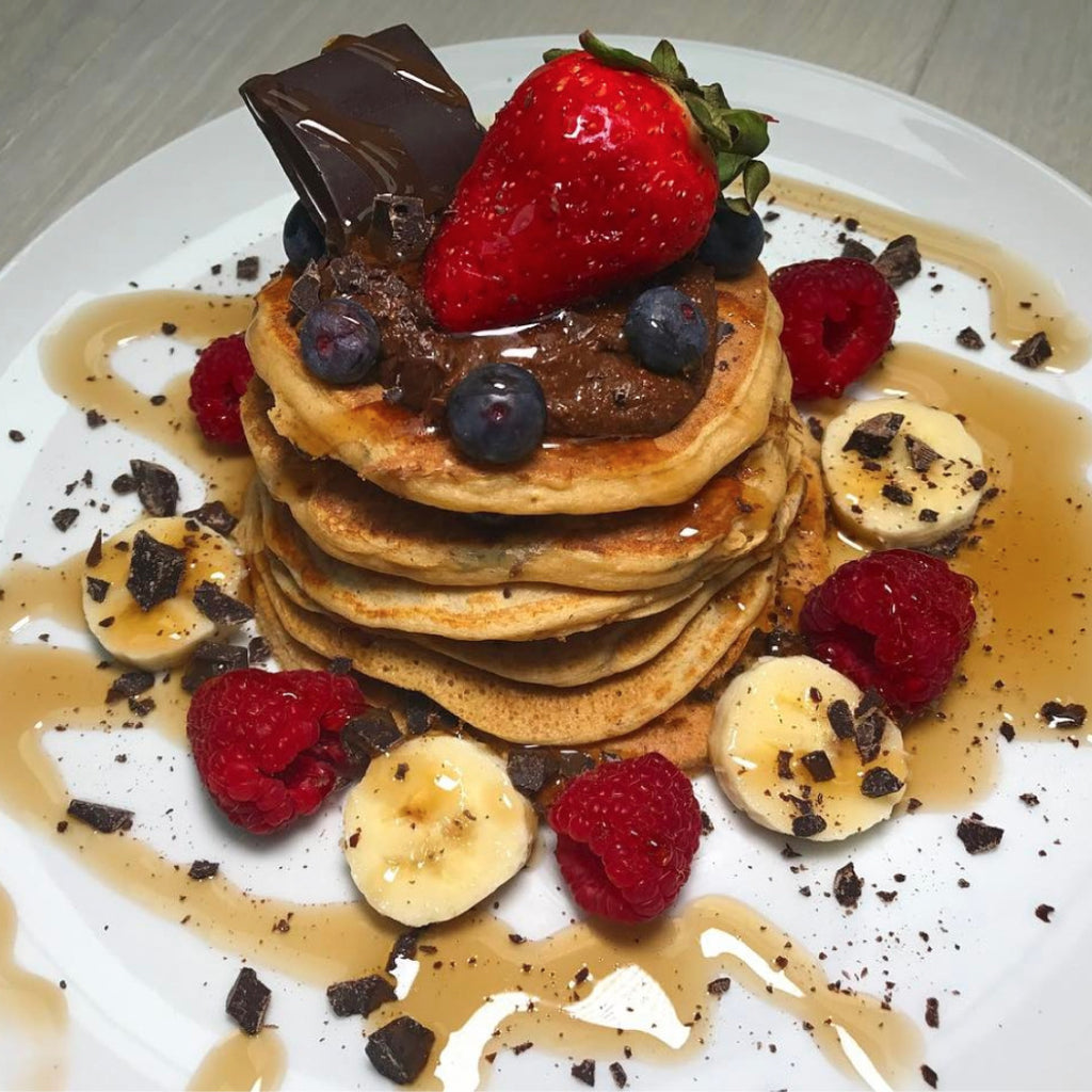 Delicious High Protein Chocolate Chip Pancakes