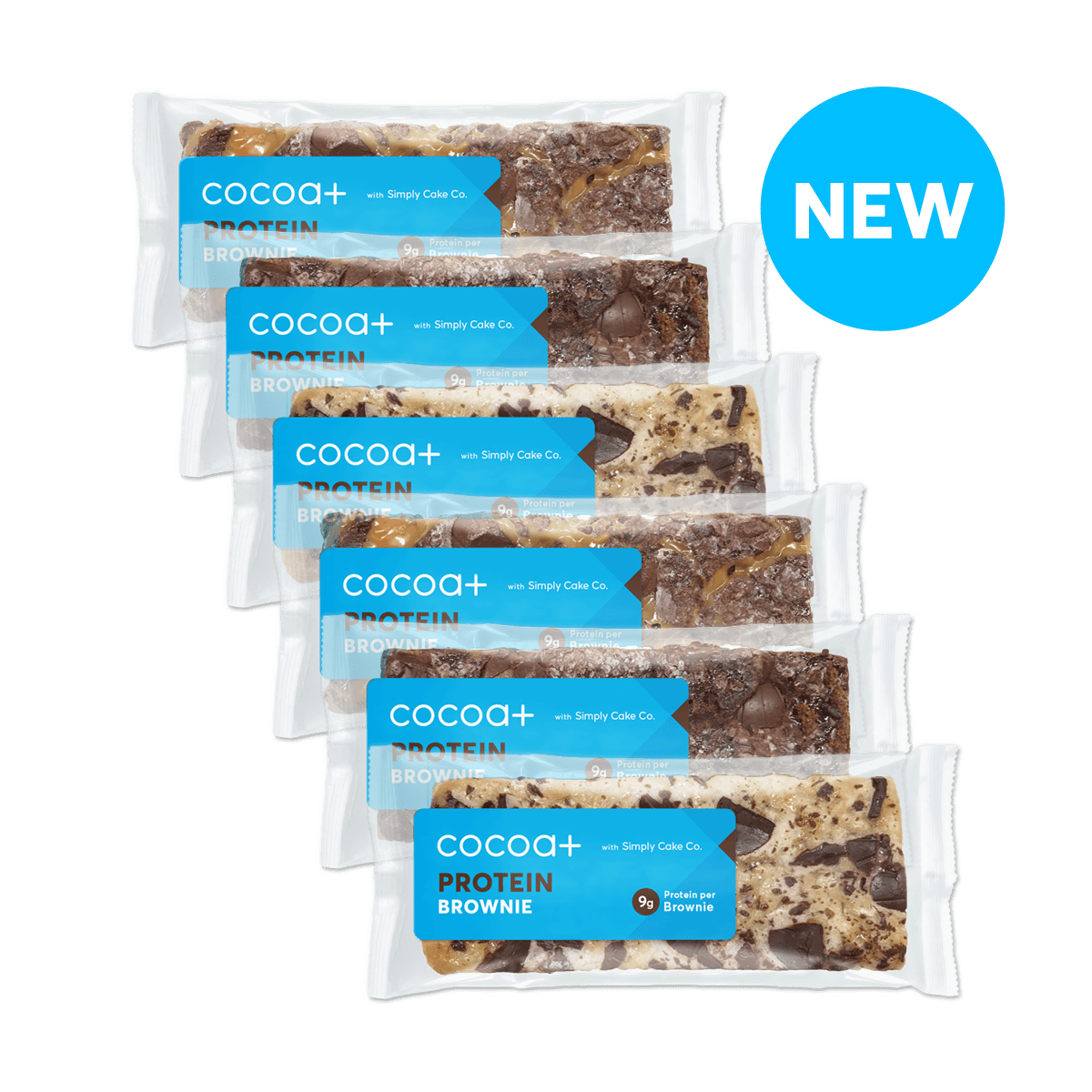 Cocoa+ 6-Pack Brownie Selection Box