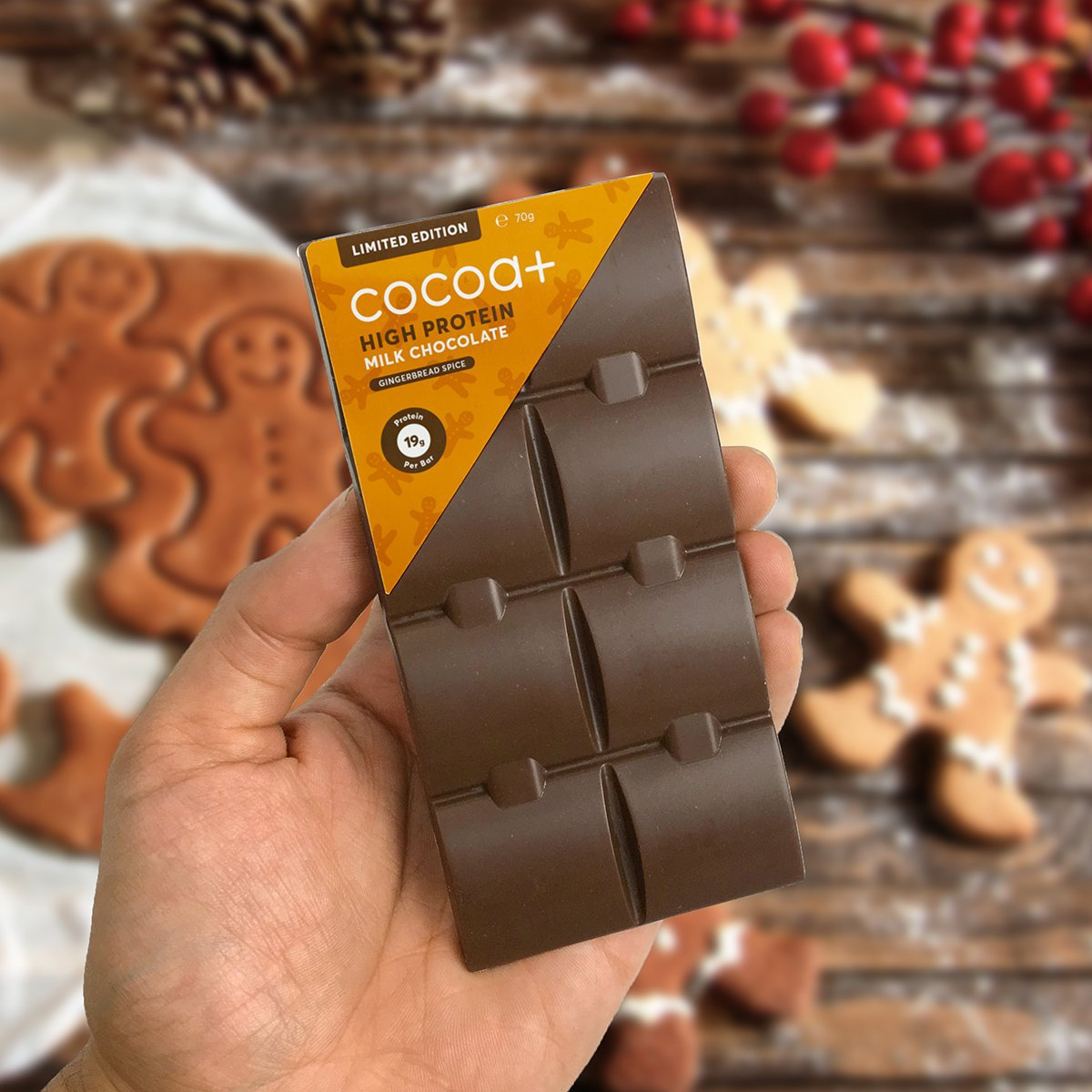 Gingerbread Spiced High Protein Milk Chocolate