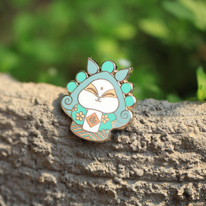 Rabbit God in Springtime Magnet and Pin