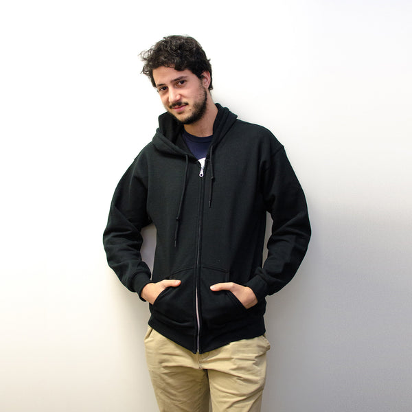 GUMS Zip-Up Hoodie Black