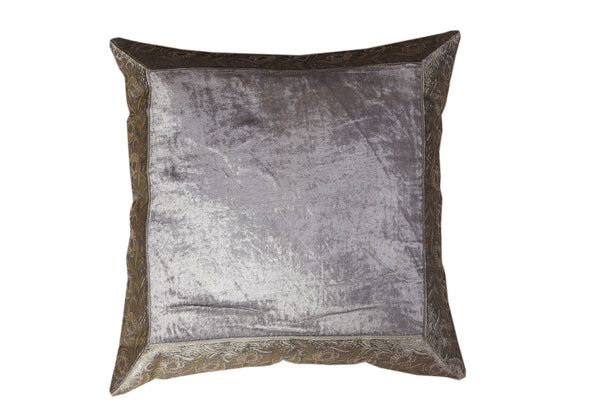 Velvet with Artificial Silk Border, CUSHION - Knots Furniture