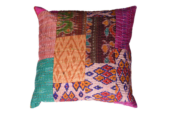 Vintage Sari Patchwork, CUSHION - Knots Furniture