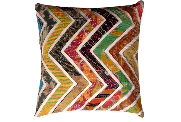 Cotton Kantha Cushion, CUSHION - Knots Furniture