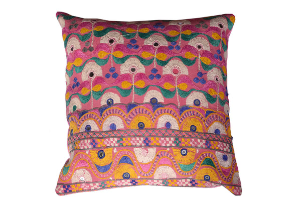 Cotton Vintage Embroidery Cushion, CUSHION - Knots Furniture