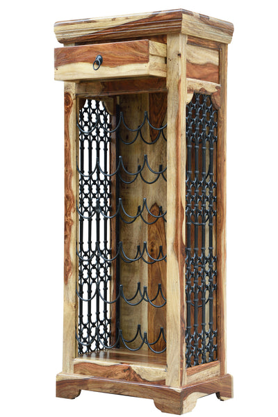 Handcrafted Wine Rack, STORAGE - Knots Furniture