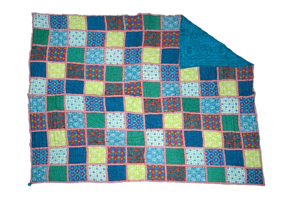 Cotton Quilted Patchwork Throw, THROW - Knots Furniture
