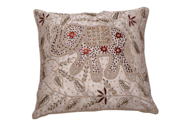 Zardogi Work Elephant Cushions, CUSHION - Knots Furniture