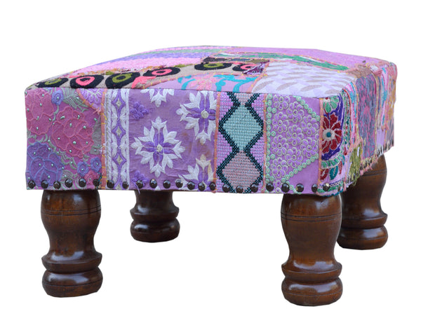 Patchwork Foot Stool, Accessories - Knots Furniture
