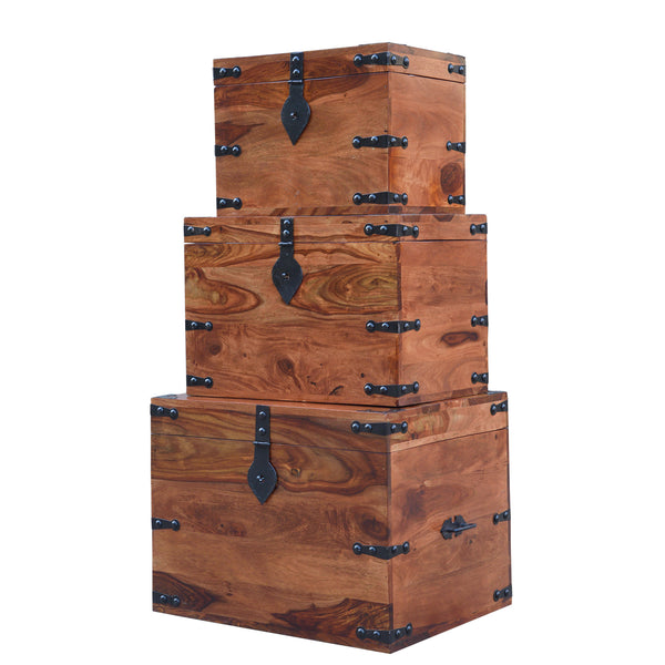 Storage Boxes (set of three), STORAGE - Knots Furniture