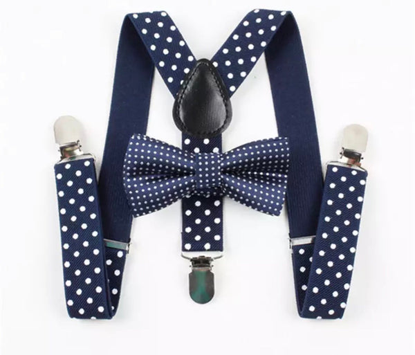 Boys Matching Bow Tie & Braces Set - Bowlicious