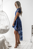 Shay high low dress - Navy