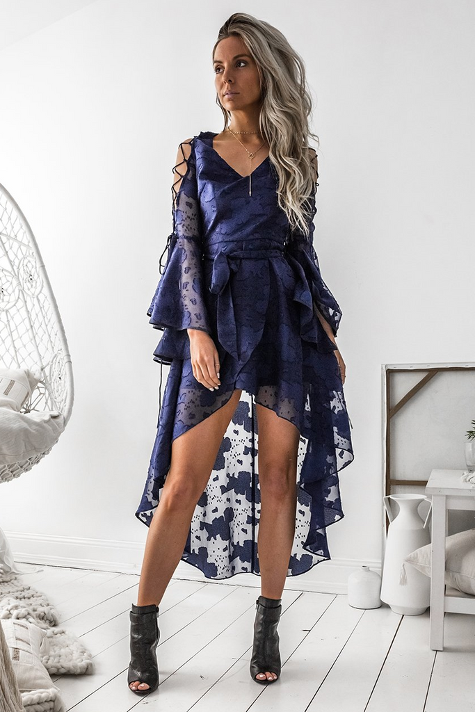Holly Dress - Navy