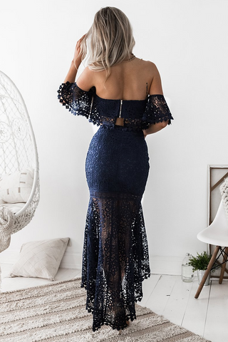 Celine Lace Set - Navy