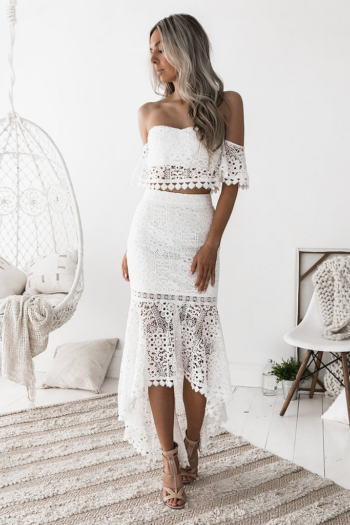 Celine Lace Set - White