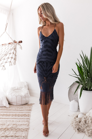 Saskia high low dress