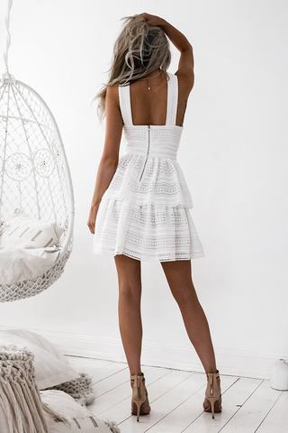 Jonas Dress -White