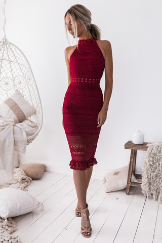 Shona Dress - Red
