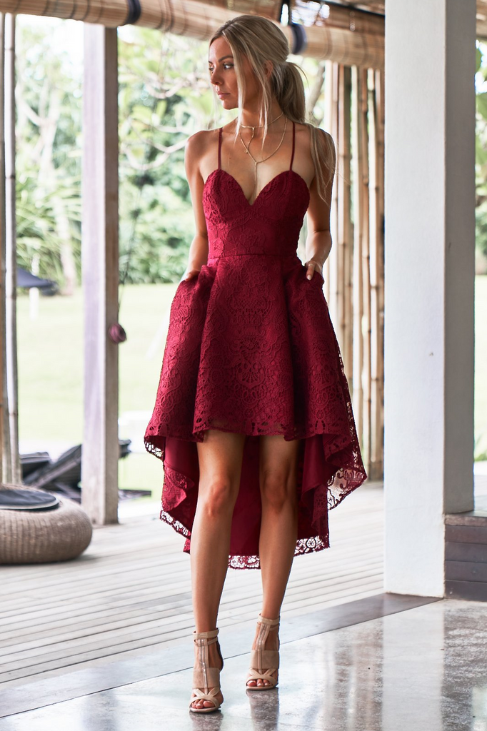 Marilyn Dress - Burgundy