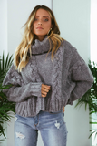Rubi Cable Knit - Grey