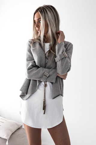 Moscow Crop Coat - Grey