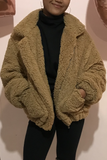 Teddy Coat - Tan