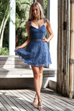 Tessie Dress - Steel Blue