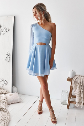 Aurelia Dress - Steel Blue