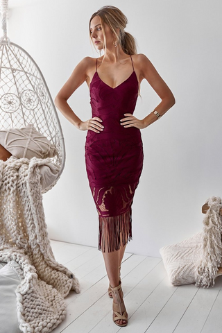 Karlie Dress - Wine