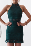 Rivers Dress - Emerald Green